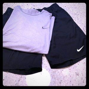 Men's Nike dri-fit t-shirt & shorts. Size XL